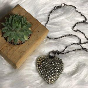 Jewelry - Heart Necklace Women's Costume Rhinestone Jewelry